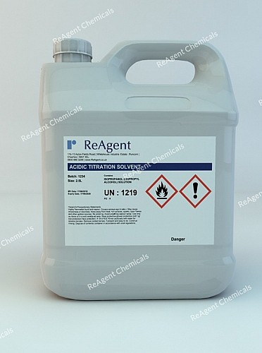 An image showing ASTM Reagents in a 2.5litre container