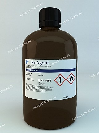 An image showing Acetone (Analytical Use) in a 2.5litre container