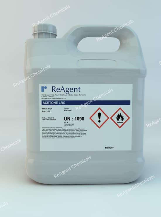 Acetone (Laboratory Use) 2.5L packsize