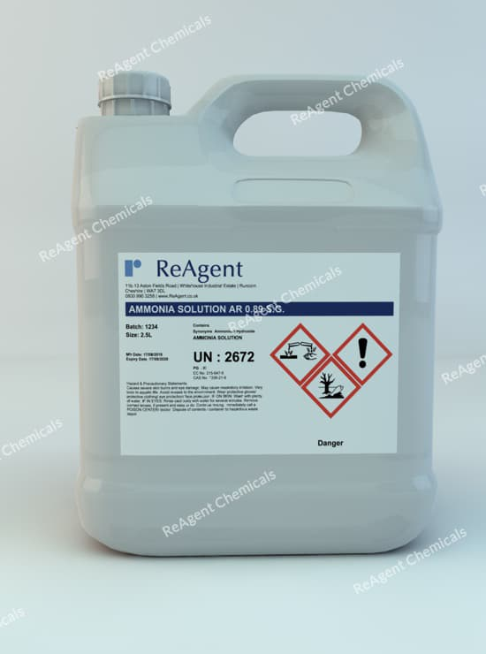 Ammonia Solution AR 0.89 SG 2.5L packsize