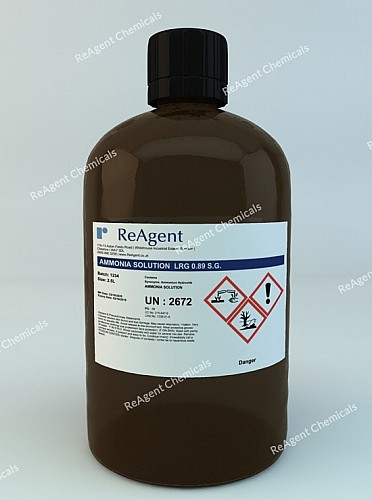 An image showing Ammonia Solution LRG 0.89 SG in a 2.5litre container