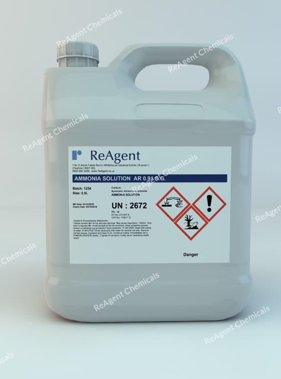 Ammonium Hydroxide AR 0.91 SG 2.5L packsize