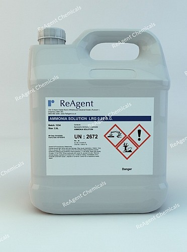 An image showing Ammonium Hydroxide AR 0.89 SG in a 2.5litre container