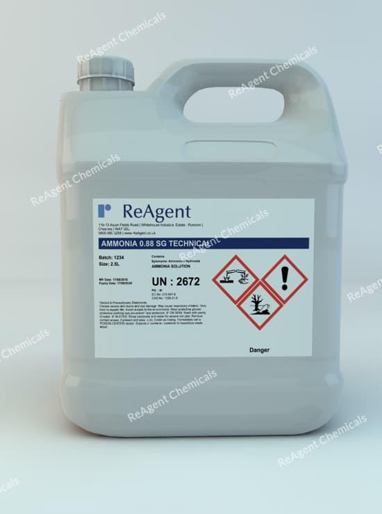 Ammonium Hydroxide Tech 0.88 SG 2.5L packsize