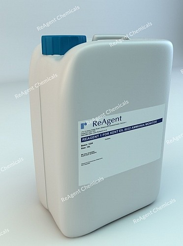 An image showing Analyser Solution Reagent 1 in a 10l container