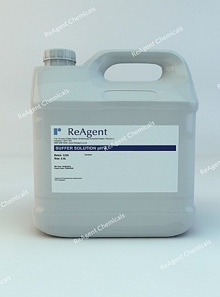 An image showing Buffer Solution pH 4 in a 1 litre container