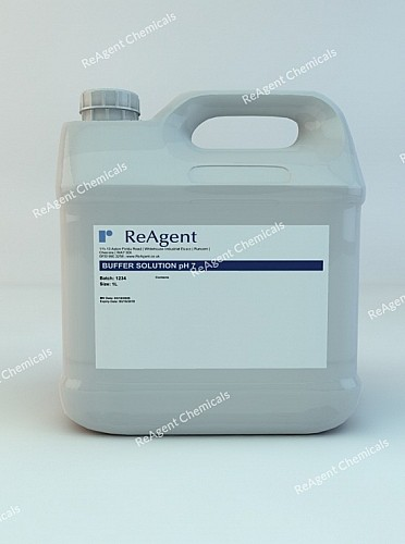 An image showing Buffer Solution pH 7 in a 1 litre container