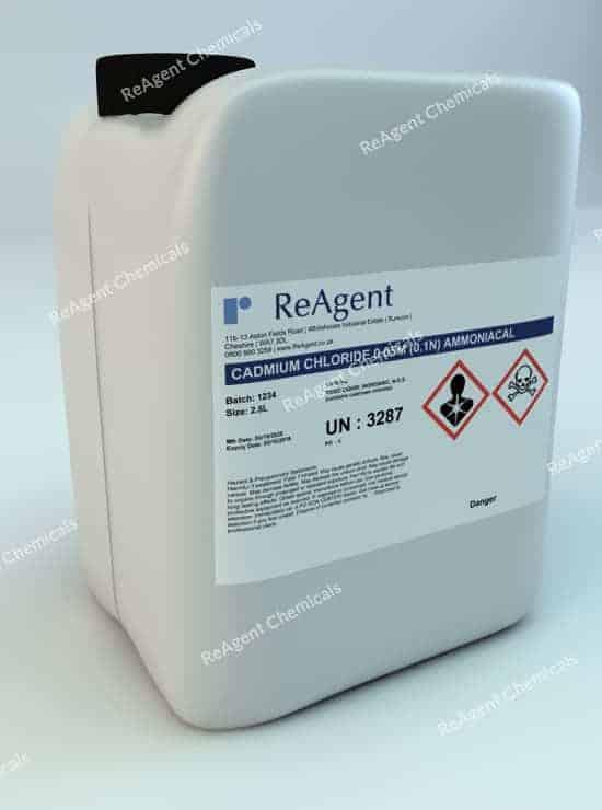 Cadmium Chloride 2.5L packsize