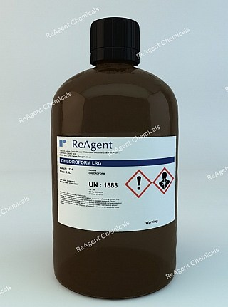 An image showing Chloroform (Laboratory Use) in a 2.5litre container