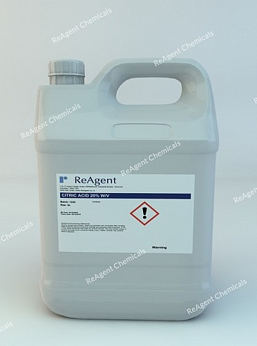An image showing Citric Acid 20% w/v in a 5 litre container