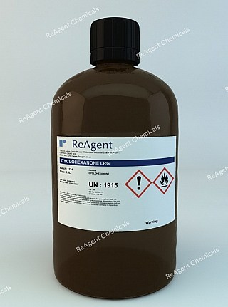 An image showing Cyclohexanone (Laboratory Use) in a 2.5litre container