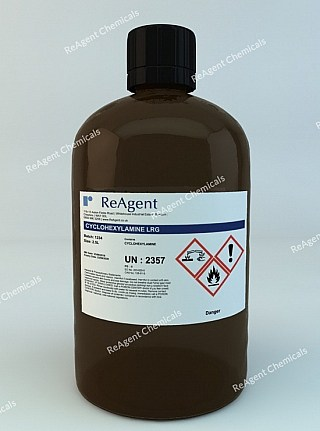 An image showing Cyclohexylamine in a 2.5litre container