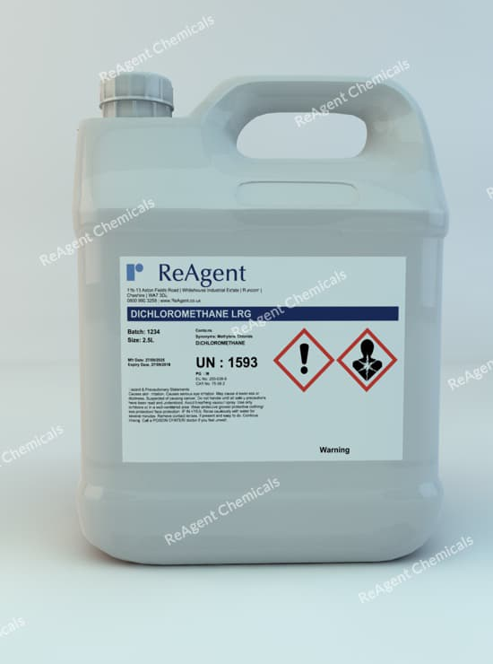 Dichloromethane (Laboratory Use) 2.5L packsize