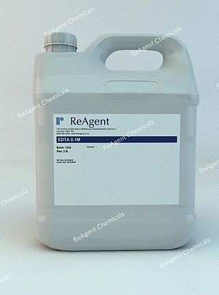 An image showing EDTA 0.1M in a 2.5litre container