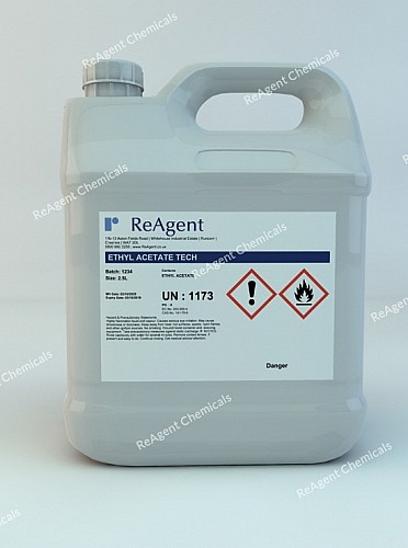 An image showing Ethyl Ethanoate in a 2.5litre container