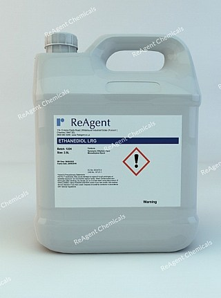 An image showing Ethylene Glycol (Laboratory Use) in a 2.5litre container