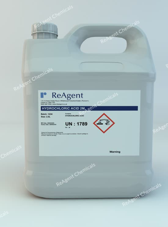 Hydrochloric Acid 2M 2.5L packsize