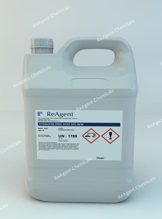 Hydrochloric Acid 30% ww 5L packsize