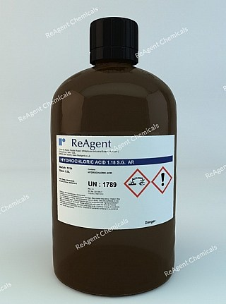 An image showing Hydrochloric Acid (Analytical Use) in a 2.5litre container