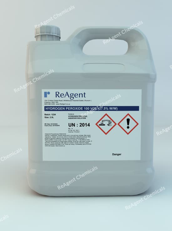 Hydrogen Peroxide 30% (100 Vols) 2.5L packsize