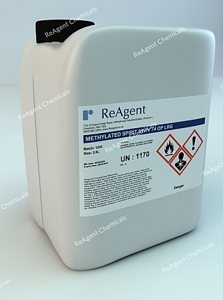 An image showing Industrial Methylated Spirits (Denatured Alcohol) 99% in a 2.5litre container