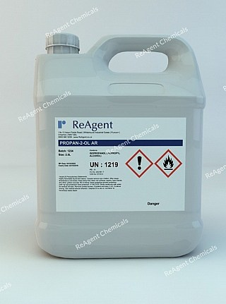An image showing Isopropyl Alcohol (Analytical Use) in a 2.5litre container