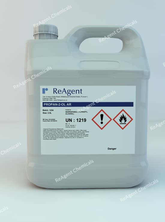 Isopropyl Alcohol (Analytical Use) 2.5L packsize