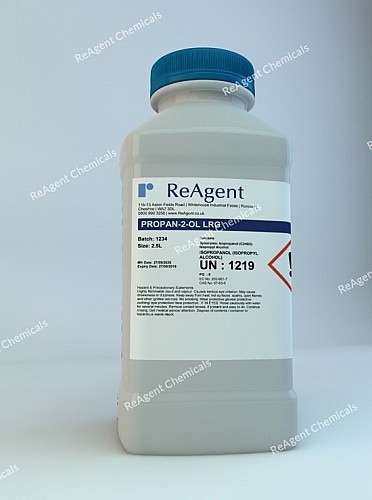 An image showing Isopropyl Alcohol (General Use) in a 2.5litre container