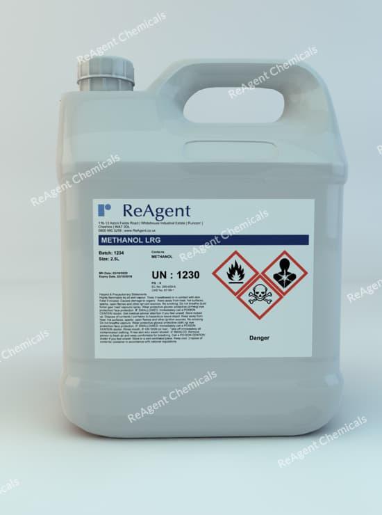 Methanol (Laboratory Use) 2.5L packsize