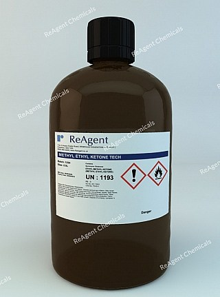 An image showing Methyl Ethyl Ketone Tech in a 2.5litre container