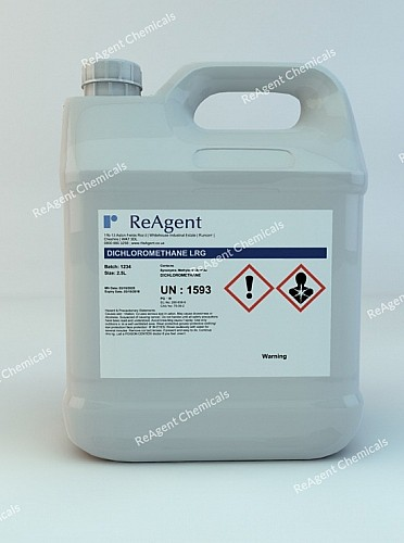 An image showing Methylene Chloride (General Use) in a 2.5litre container