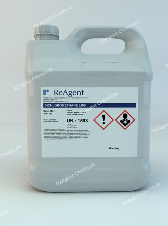 Methylene Chloride (General Use) 2.5L packsize
