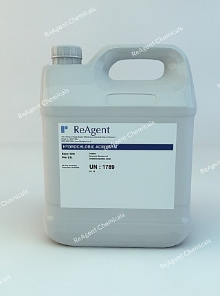 An image showing Muriatic Acid 0.01M in a 2.5litre container