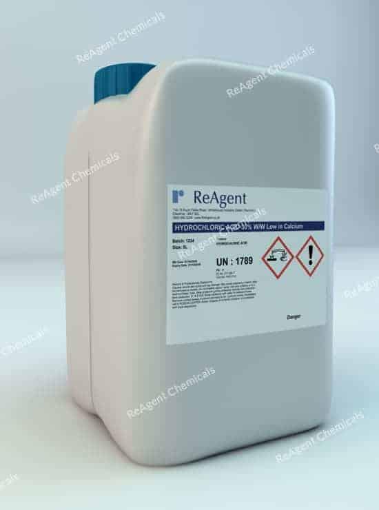 Muriatic Acid 30% ww low in calcium 5L packsize