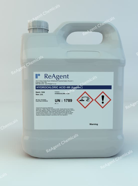 Muriatic Acid 4M (approx) 2.5L packsize