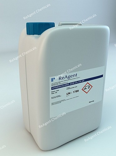 An image showing Muriatic Acid AR 2% v/v in a 10l container