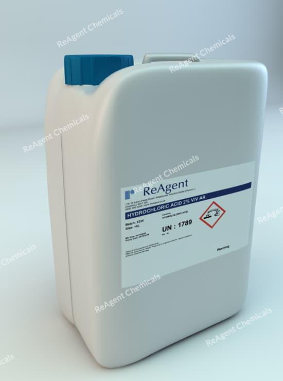 Muriatic Acid AR 2% vv 10L packsize