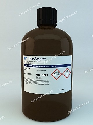 An image showing Muriatic Acid (Laboratory Use) in a 2.5litre container