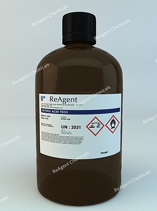 An image showing Nitric Acid (Laboratory Use) in a 2.5litre container