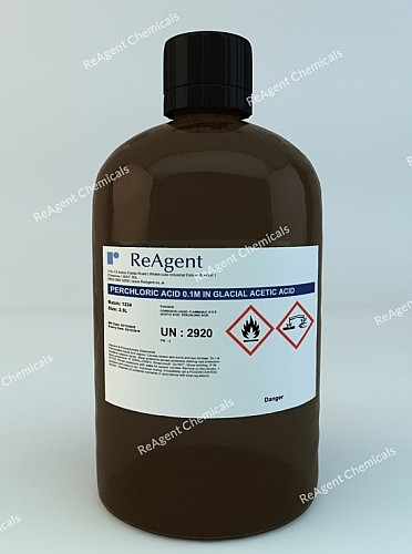 An image showing Perchloric Acid 0.1M in Glacial Acetic Acid in a 2.5litre container