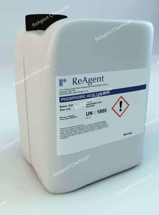 Phosphoric Acid 17% ww 2.5L packsize