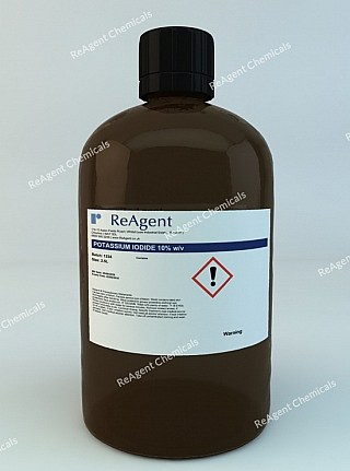 An image showing Potassium Iodide 10% w/v in a 2.5litre container