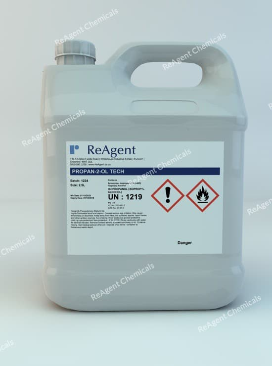 Propan-2-ol Isopropanol (Lab Use) 2.5L packsize