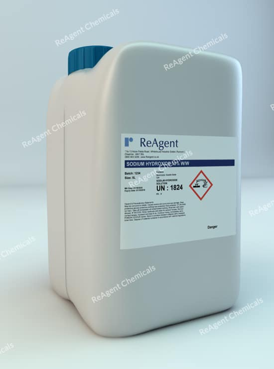 Sodium Hydroxide 10% ww 5L packsize