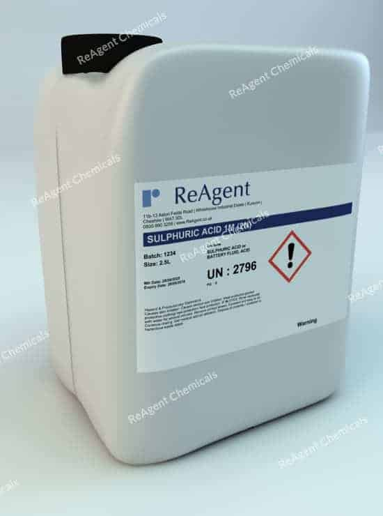 Sulfuric Acid 1M (2N) 2.5L packsize