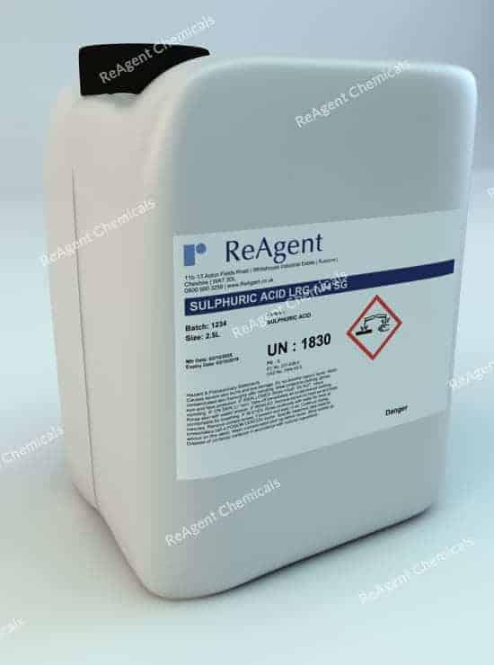 Sulphuric Acid (Laboratory Use) 2.5L packsize