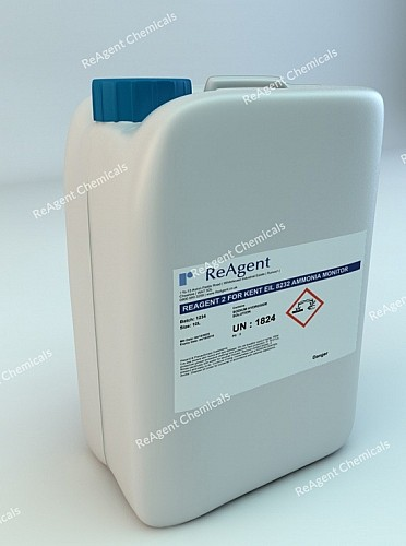 An image showing Analyser Solution Reagent 2 for ABB 8232 Ammonia Monitor in a 10l container