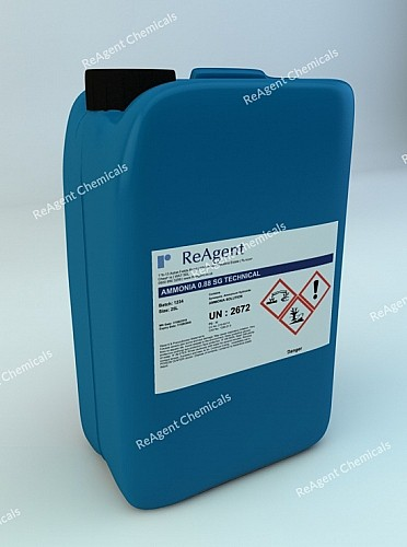 An image showing Ammonia Solution Tech 0.88 SG in a 25 litre container