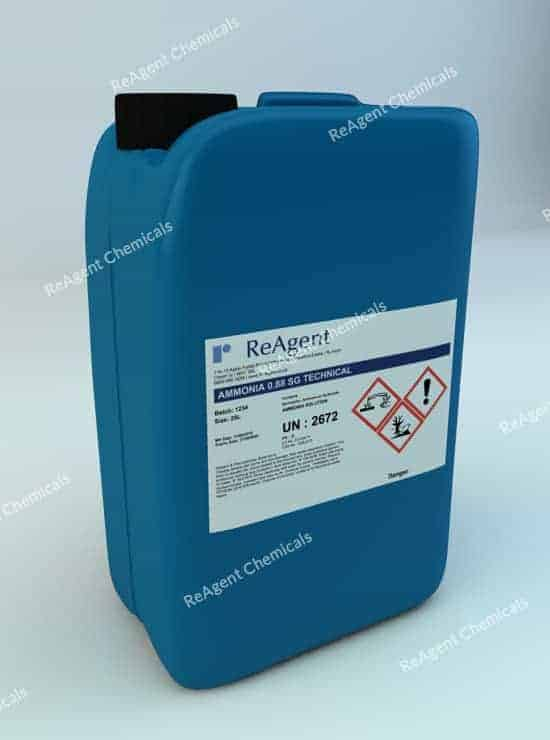 Ammonia Solution Tech 0.88 SG 25L packsize