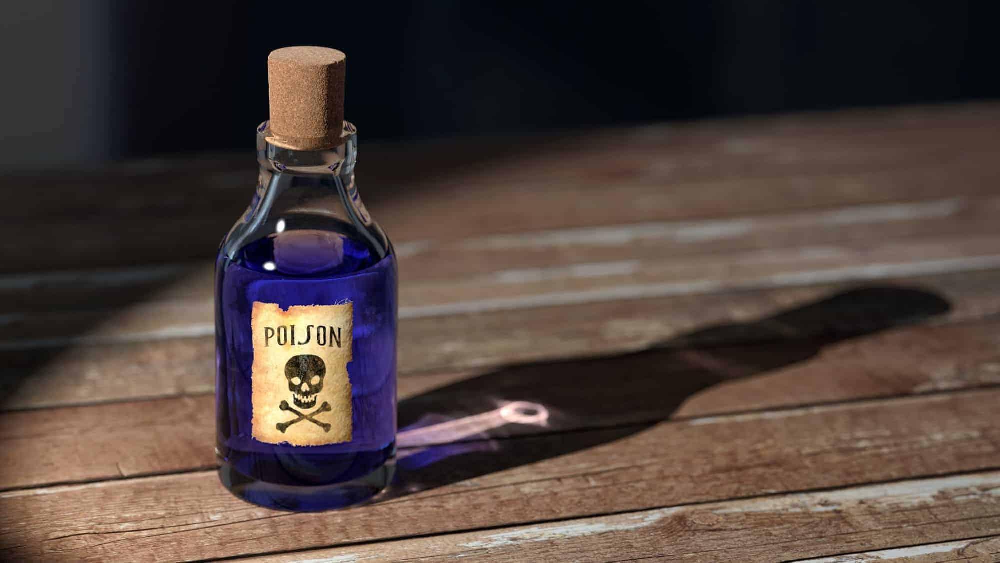 poison bottle medicine old 159296